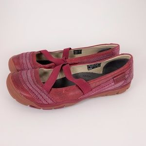 Keen 7.5 Pink Leather Slip on Mary Jane Shoes EUC